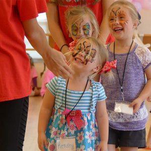 Face painting during dance summer camps in Naples, FL | Études de Ballet